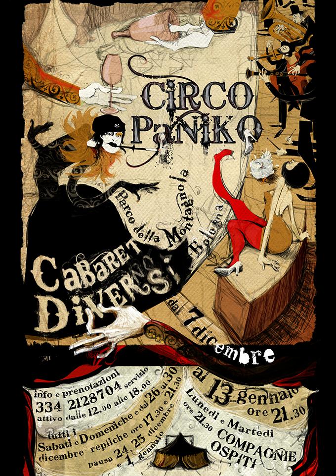 Circo Paniko | poster Cabaret Diversi | 2012/13